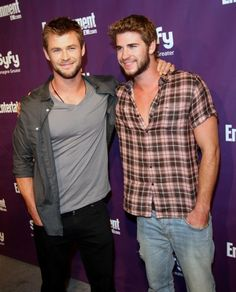 Just figured out they are brothers. Chris and Liam. Wonder what their parents look like? Good Genes ;)