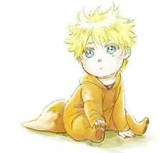Baby Naruto in a fox suit