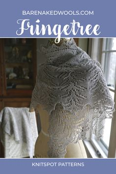A delicate lace motif flutters along the border of this airy triangle shawl, to knit from hem to neck in three sizes (petite, medium, tall). Using a luminous woolen-spun yarn will result in a fabric that glows from within to highlight the shawl's beautiful linear elements. Lace Knitting Patterns, Knitting Designs, Stitch Patterns, Chrochet, Knit Crochet, Designer Knitwear, Knit Shawls, Wedding Shawl, Highlight
