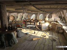cabin captain s pirate ship 3d model