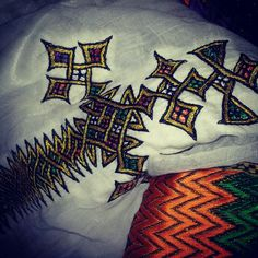 The beautiful hand made Ethiopian dress