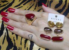 Rivera Jóias: Semi-jóias com pedras vermelhas. Desperte Paixões!...