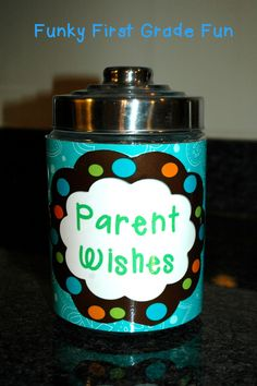 """Parent Wishes"" for Meet the Teacher / Open House (from Funky First Grade Fun)"
