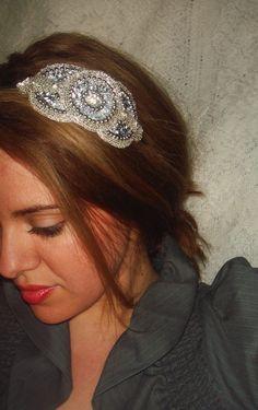 Headband ROYALE hair accessory rhinestone headband by Luciabella1, $26.00