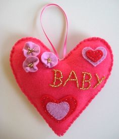 Pink Hanging Heart for Baby Girl Room