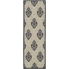 Safavieh Indoor/ Outdoor St. Barts Sand/ Black Runner (2'4 x 6'7) - Overstock™ Shopping - Great Deals on Safavieh Runner Rugs
