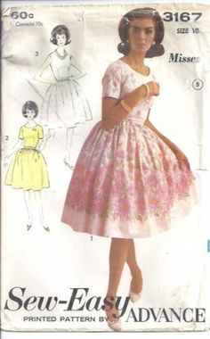 Fitted bodice and full skirt make this the perfect 1950's dress!