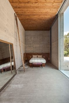 "Architectural studio Carvalho Araújo designed Gerês House, a contemporary spacious residence with concrete walls and wooden accents. The house is located in Gerês, Portugal. ""Gerês house is located… Contemporary Architecture, Interior Architecture, Interior And Exterior, Interior Design, Planet Design, Concrete Interiors, Concrete Structure, Modern Decor, Building A House"