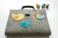 Rainbow Bird Portable Artist Tote