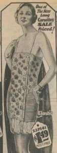 1924 Corselet with Elastic side panels http://www.vintagedancer.com/1920s/lingerie-history/