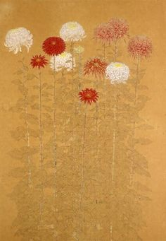 Floral Illustrations, Illustration Art, Monet, Silverpoint, Asian Flowers, Korean Painting, Art Asiatique, Art Japonais, Art Moderne