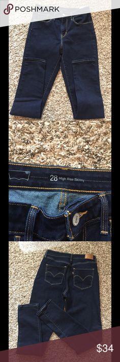 "NWOT Levi high rise skinny 28 Dark wash Levi high rise size 28"" Levi's Jeans Skinny"