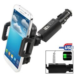 awesome Mudder Dual 2 USB Car Charger Cradle Mount Holder Stand Cigarette Lighter for Iphone ,Nokia ,Htc and More Smartphone. Sony, Car Parts And Accessories, Smartphone, Samsung Galaxy S, Htc One, Iphone 4s, Outdoor Power Equipment, Google, Charger
