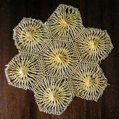 Vintage doily Hairpin 1970s Hairpin Loom Crochet by MyWealth, $3.20