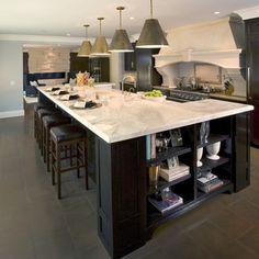 Hickory cabinets Uba tuba granite Porcelain tile GE microwave