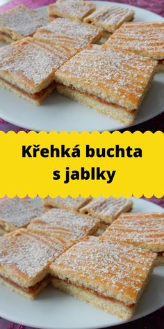 Křehká buchta s jablky Banana Bread, French Toast, Breakfast, Morning Coffee, Morning Breakfast