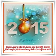 Felicitari de Anul Nou 2015 cu mesaje si urari