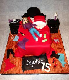 Girls messy bedroom cake