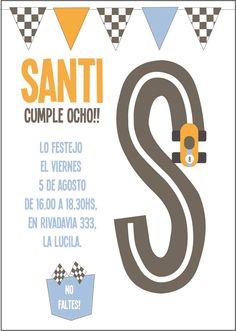 Una pista de autos para el cumple de Santi!