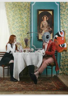 """Tea party""  mds: Maria and Egor; photo, costume designer, decorations, idea: Ksenia Alizabal"