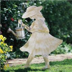 Little Gardener With Watering Can | Lillian Vernon - Outdoor Sale | Lillian Vernon