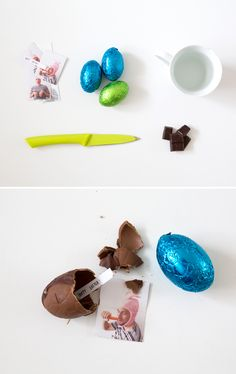 Hide photos INSIDE your chocolate Easter eggs! We'd like to see a bunny pull that off.