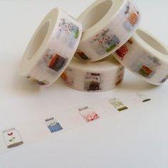 Cool School Supplies, Craft Supplies, Planner Supplies, Stationary Supplies, Washi Tape Set, Masking Tape, Cinta Washi, How To Make Planner, Jar Design