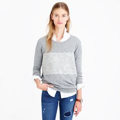 J.Crew - Needle punch lace sweater