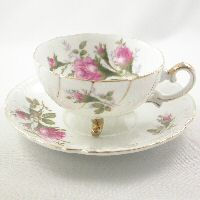 Ucagco Roses Tea Cup and Coordinating Royal Roses Saucer