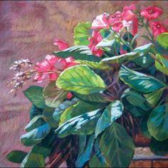 Flowers in Italy. Pastel paintings by Jill Stefani Wagner.