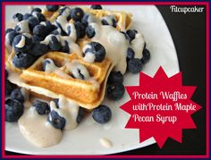 Protein waffles! So many high protein, low carb recipes here. Fitcupcaker.com
