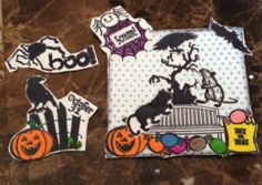 Handmade Halloween embellishments for scrapbooking, crafting and card making.