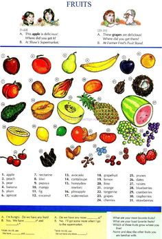 FRUITS - Repinned by Chesapeake College Adult Education Program. Learn and improve your English language with our FREE Classes. Call Karen Luceti 410-443-1163 or email kluceti@chesapeake.edu to register for classes. Eastern Shore of Maryland. . www.chesapeake.edu/esl