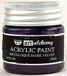 Art Alchemy Acrylic Paint - Metallique Dark Velvet - Prima
