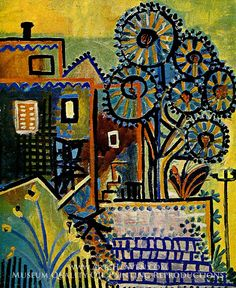 Maisons et Arbres by Pablo Picasso (inspired by). Museum Quality Oil Painting Reproductions On Canvas.