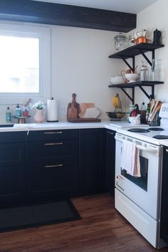 How to plan an IKEA kitchen - LAXARBY black cabinets
