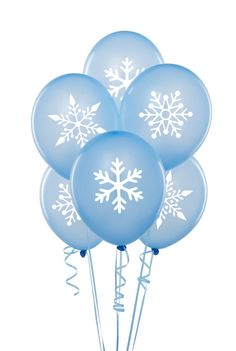 Holiday Winter Christmas Snowflake Stickers for by ZestyGraphics, $10.00 Or spray paint with stencil snowflake onto balloon !