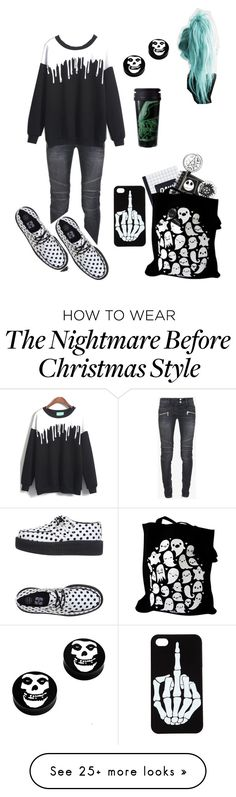 """Study day"" by hisinfernalzombie on Polyvore featuring Balmain and T.U.K."