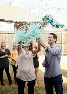Gender reveal party confetti balloon