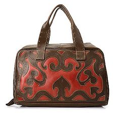 Labrado™ Leather Hand-Tooled Cut-out Design Double Handle Tote Bag w/ Strap