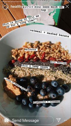 Healthy Breakfast Recipes, Healthy Eating, Healthy Foods, Food Is Fuel, Aesthetic Food, Healthy Smoothies, Soul Food, Vegan Recipes, Vegan Food