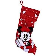 Disney Christmas Holiday Stocking - Nostalgic Red and White - Minnie Mouse 400003017751 Red and White Holiday Minnie Mouse Stocking Item No. Disney Christmas Stockings, Disney Christmas Decorations, Christmas Stocking Holders, Mickey Christmas, Christmas Holidays, Holiday Decor, Cross Stitch House, Disney Merchandise, Red And White