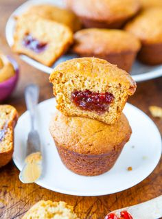 Peanut Butter and Jelly Muffins averiecooks.com