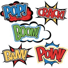 Superhero Words SVG cutting files for scrapbooking superhero clipart clip art cute free svg cuts