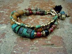 Bohemian Bracelet / Gypsy Bracelet / Boho / Multi by Syrena56