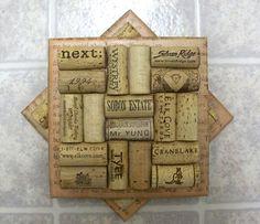 Tile wine cork trivets