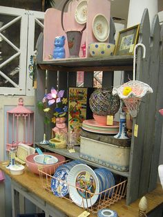 antique mall booth displays | Booth Display | Drying rack