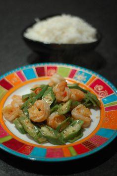 Spicy Okra with Prawns