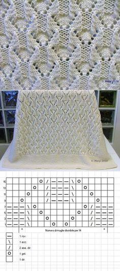 New crochet lace pattern stitches baby blankets 49 ideas Lace Knitting Patterns, Knitting Stitches, Stitch Patterns, Pull Crochet, Crochet Lace, Diy Couture, Knitted Baby Blankets, Easy Knitting, Baby Patterns