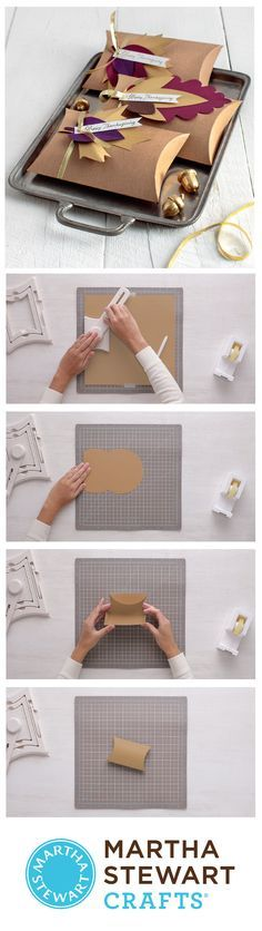 DIY customizable pillow boxes with the Martha Stewart Crafts Gift Box Maker!